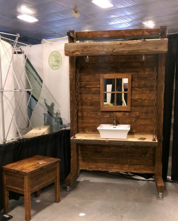 Meuble salle de bain industriel rustique sur mesure