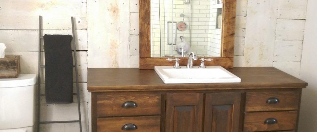Meuble de salle de bain en bois| Vanité de salle de bain ...