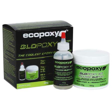 Glopoxy ecopoxy resine photoluminescente ensemble vert pour vente en ligne détaillant Québec L'Ébénisterie de Lanaudière