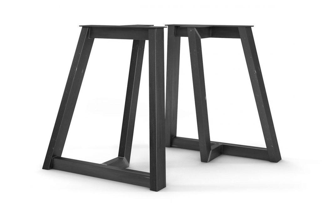 Pied de table en métal brute base pour table de cuisine ou table de salon de style industriel fabriquer sur mesure par l'ébénisterie de lanaudière