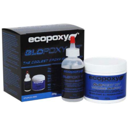 Glopoxy ecopoxy resine photoluminescente ensemble bleu pour vente en ligne détaillant Québec L'Ébénisterie de Lanaudière