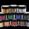 Paillettes colorées polyester ecopoxy vente en ligne couleur Noir-Or-Rouge-Vert-jaune-Argent-Bleu-Bronze-Brun-Cuivre-Fuchsia-Gunmetal.