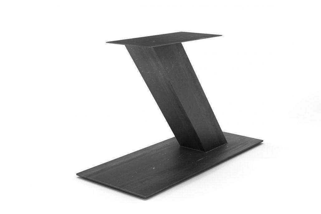 Base de table central en métal style industriel fabrication sur mesure l'ébénisterie de lanaudière