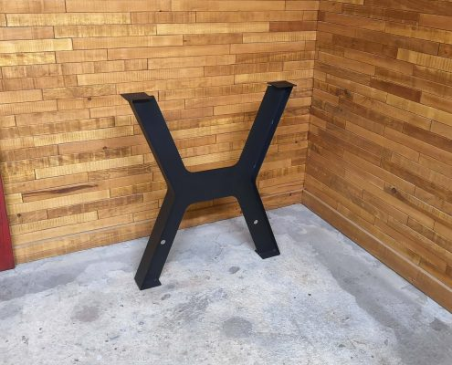 Patte table- x métal noirl'ébénisterie de lanaudière