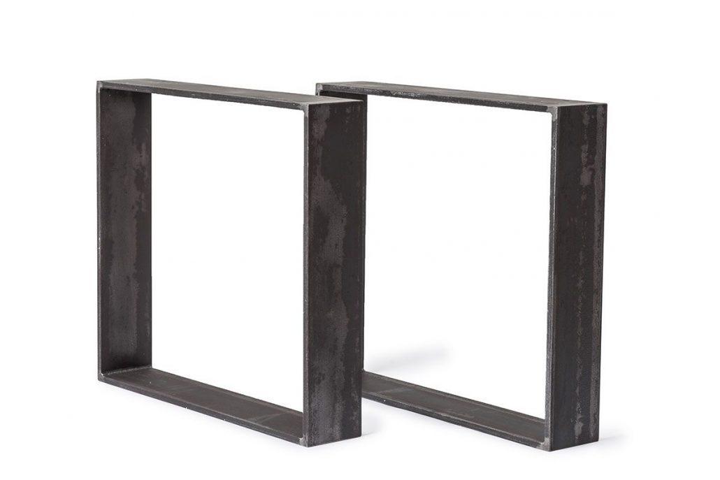 Fabrication de patte de table metal brute pour table de cuisine ou salon de style industriel par l'ébénisterie de lanaudiere