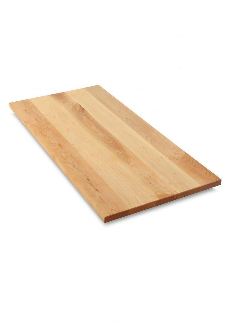 Plateau de table en érable massif fabriquer sur mesure par l'ébénisterie de lanaudière