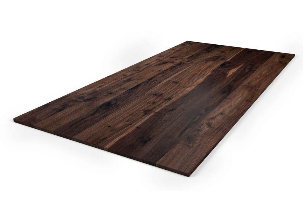 Plateaux de table en bois massif avec petit noeud et aubier fabriquer sur mesure au québec par l'ébénisterie de Lanaudière