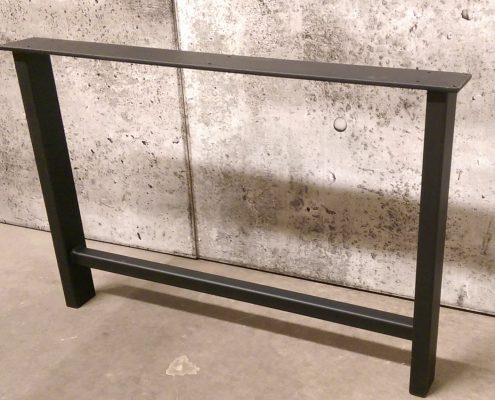 Base de table tubing métal